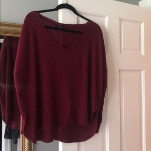 Urban outfitters Burgundy thermal